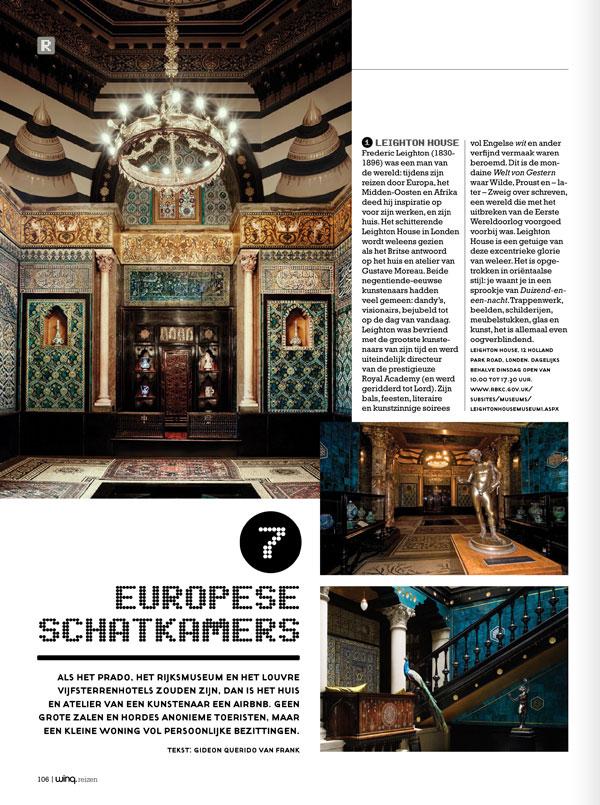 "Winq magazine 62  - Artikel: ""Europese schatkamers"""